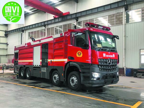 【国五】奔驰前四后八18方大型水罐消防车