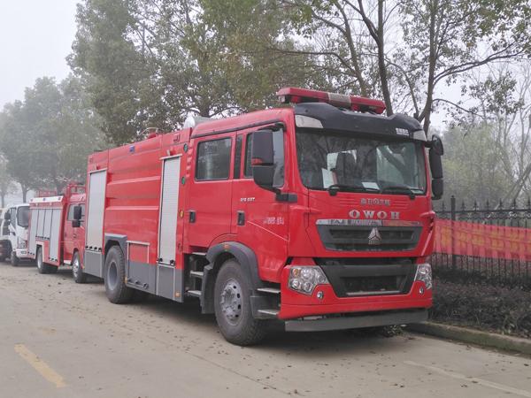 【国五】豪沃T5G水罐消防车-8吨