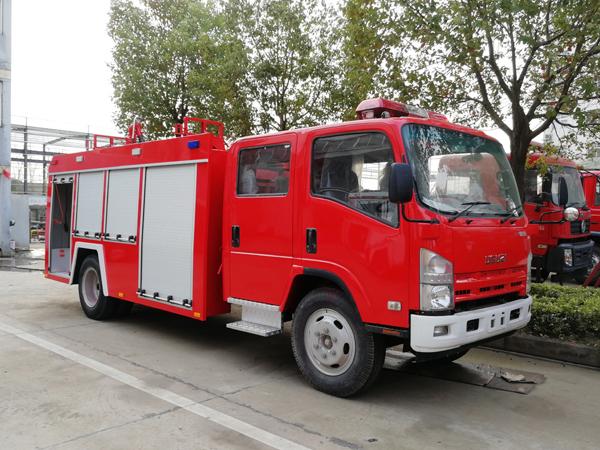 【国五】庆铃700P水罐消防车3吨