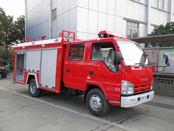 【国五】庆铃100P水罐消防车2吨
