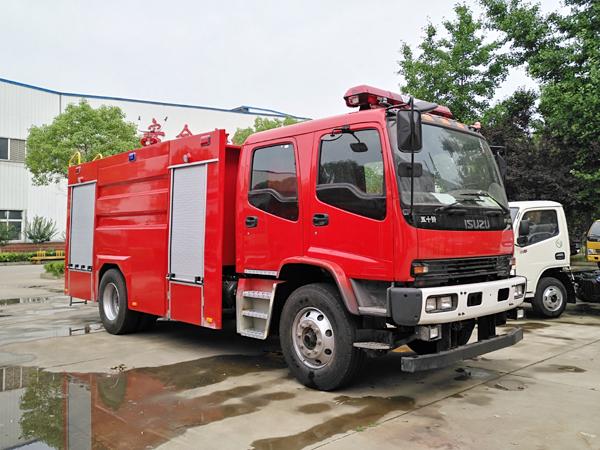 【国五】庆铃FVR水罐消防车7吨