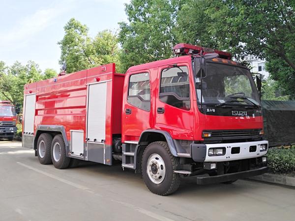 【国五】庆铃后双桥FVZ水罐消防车11吨