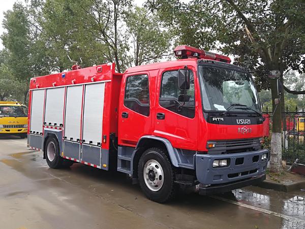 【国五】庆铃FTR水罐消防车6吨