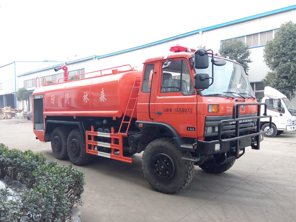 【国五】天龙后双桥14吨消防洒水车