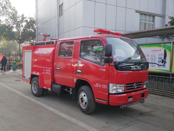 【国五】东风(蓝牌)双排2吨消防洒水车