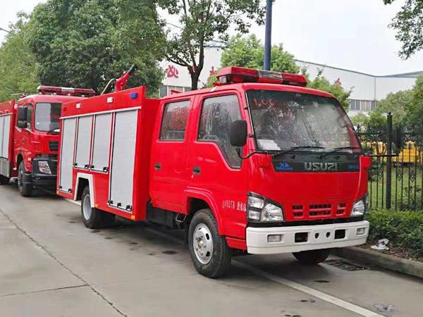 【国五】庆铃600P水罐消防车2吨