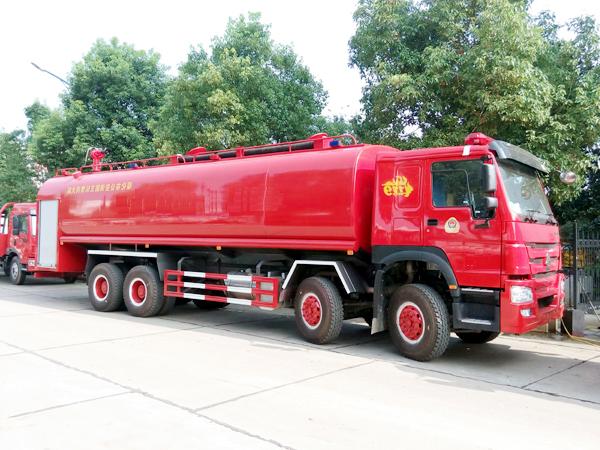 【国五】豪沃前四后八21吨消防洒水车