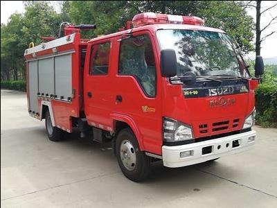 【国五】五十铃600P泡沫消防车-2吨