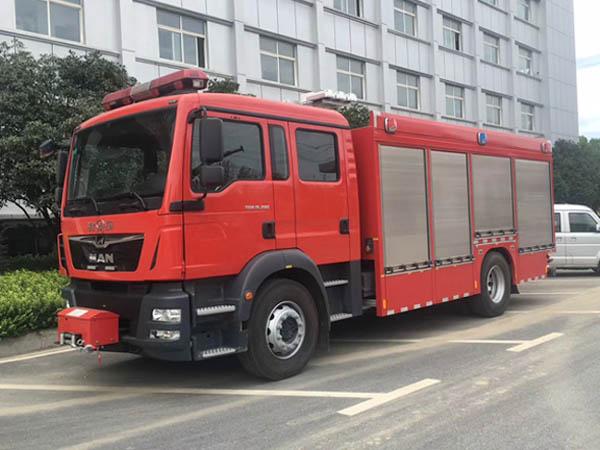 【国五】德国-曼-4.5方压缩空气泡沫消防车