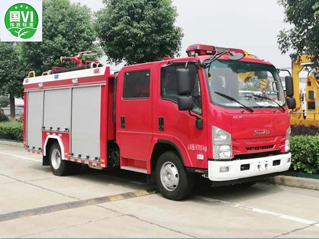 【国六】五十铃700P  3.5方泡沫消防车