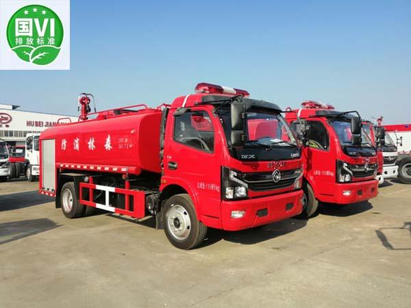 【国六】东风大多利卡单排7吨消防洒水车