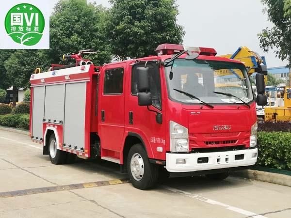 【国六】庆铃2.5方泡沫消防车(KV宽体)3815mm
