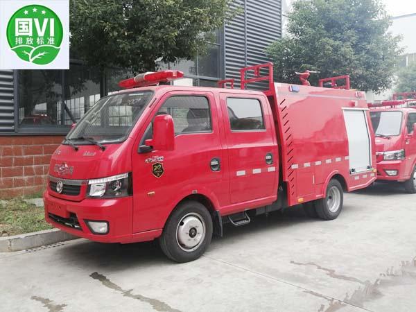 【国六】东风途逸双排1吨蓝牌水罐消防车