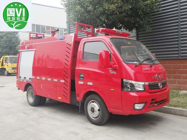 【国六】蓝牌单排东风途逸1吨水罐消防车